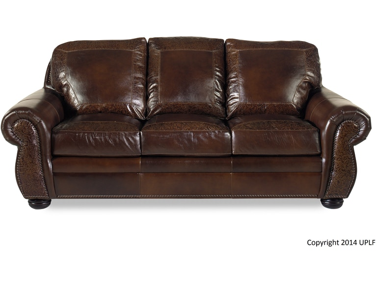 Usa Premium Leather Living Room Sg Oak Paisley Sofa 1705817 At Swann S Furniture