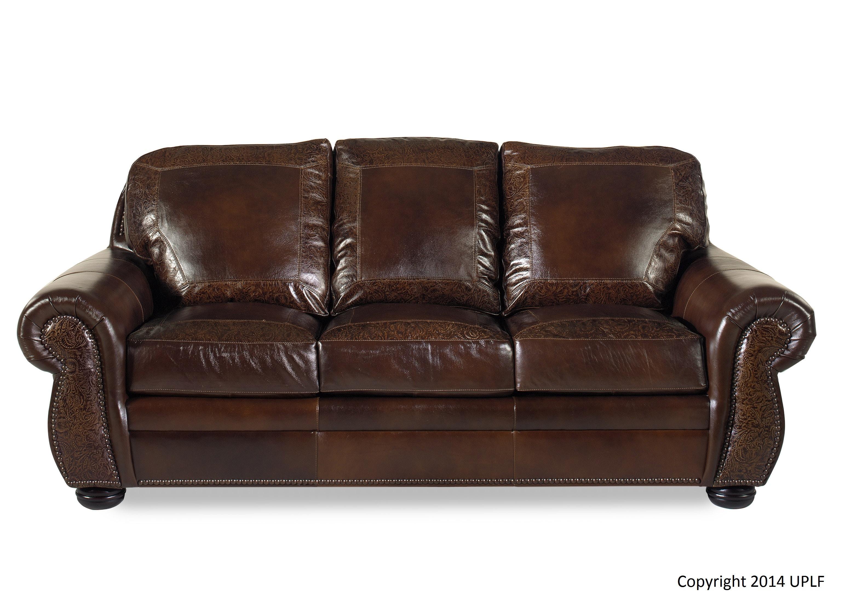 Charming USA Premium Leather SG Oak Paisley Sofa 1705817
