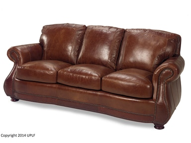 USA Premium Leather Brandy Crocodile Sofa 623230