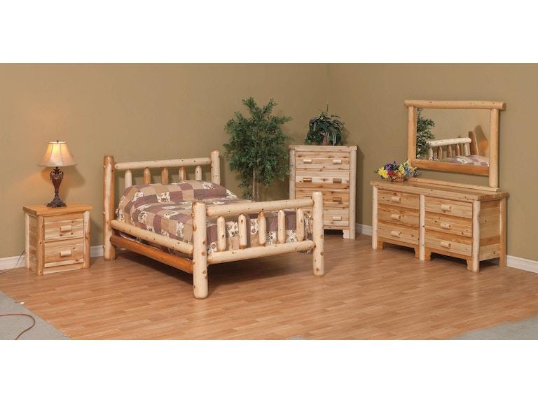 5 Pc Log Bedroom Set Queen P37148