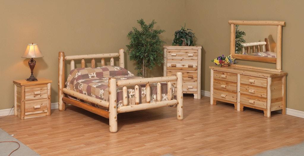 5 Pc Log Bedroom Set-Queen
