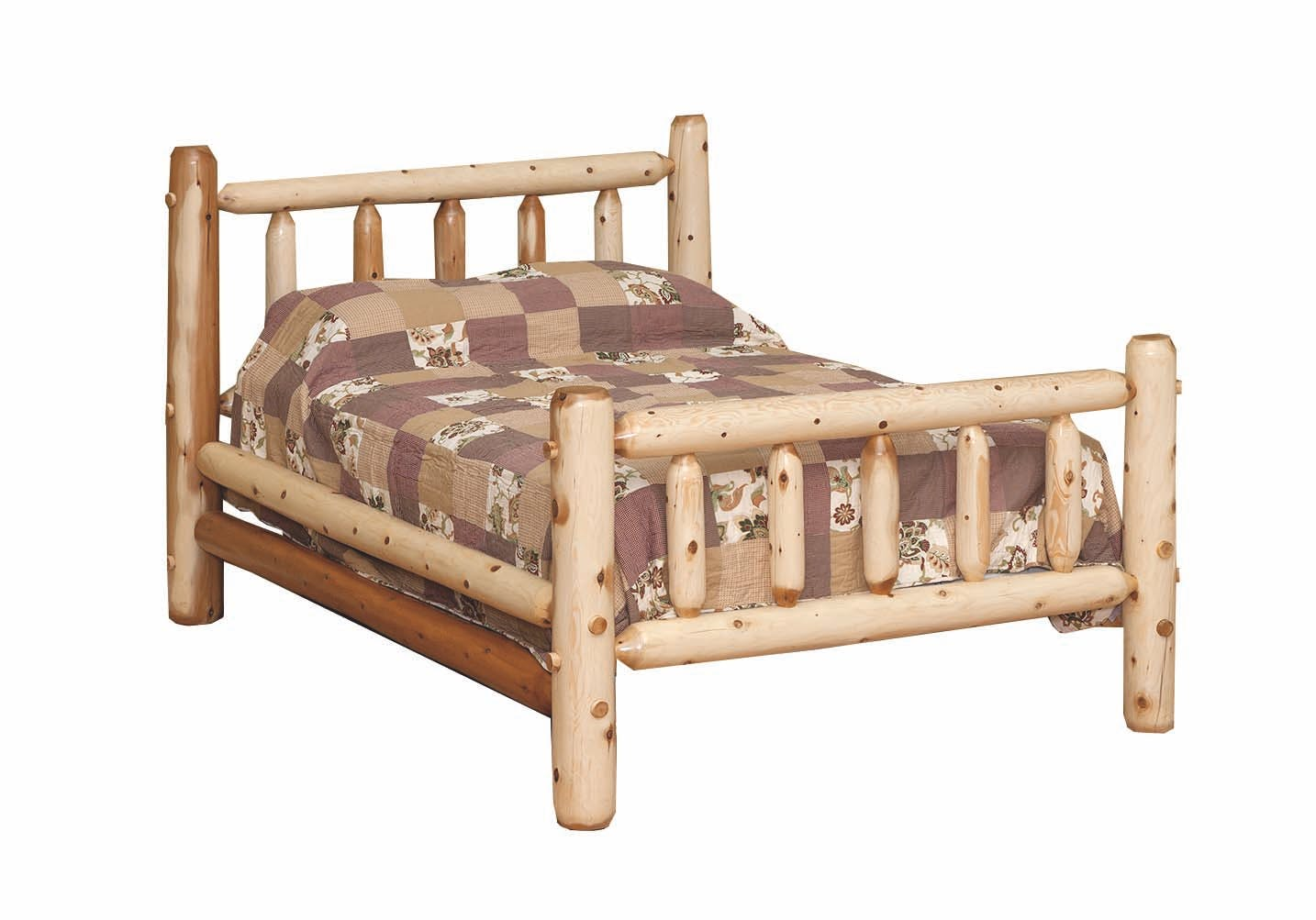 Countryside Rustic Bedroom Queen Classic Log Bed 23024 Love S Bedding And Furniture Claremont