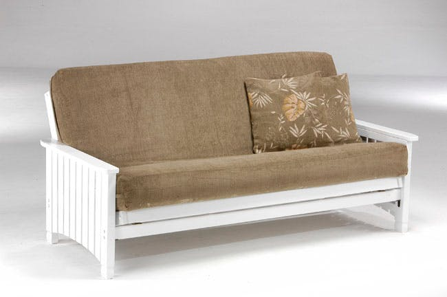Love S Living Room Full Futon Frame Only Key West White P33676 Love S Bedding And Furniture