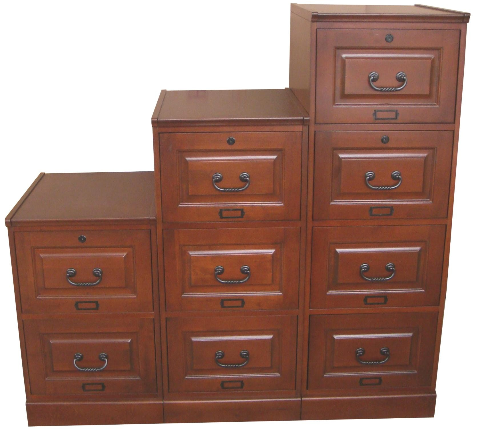 Tei 4 Drawer Cherry File Cabinet 8841C