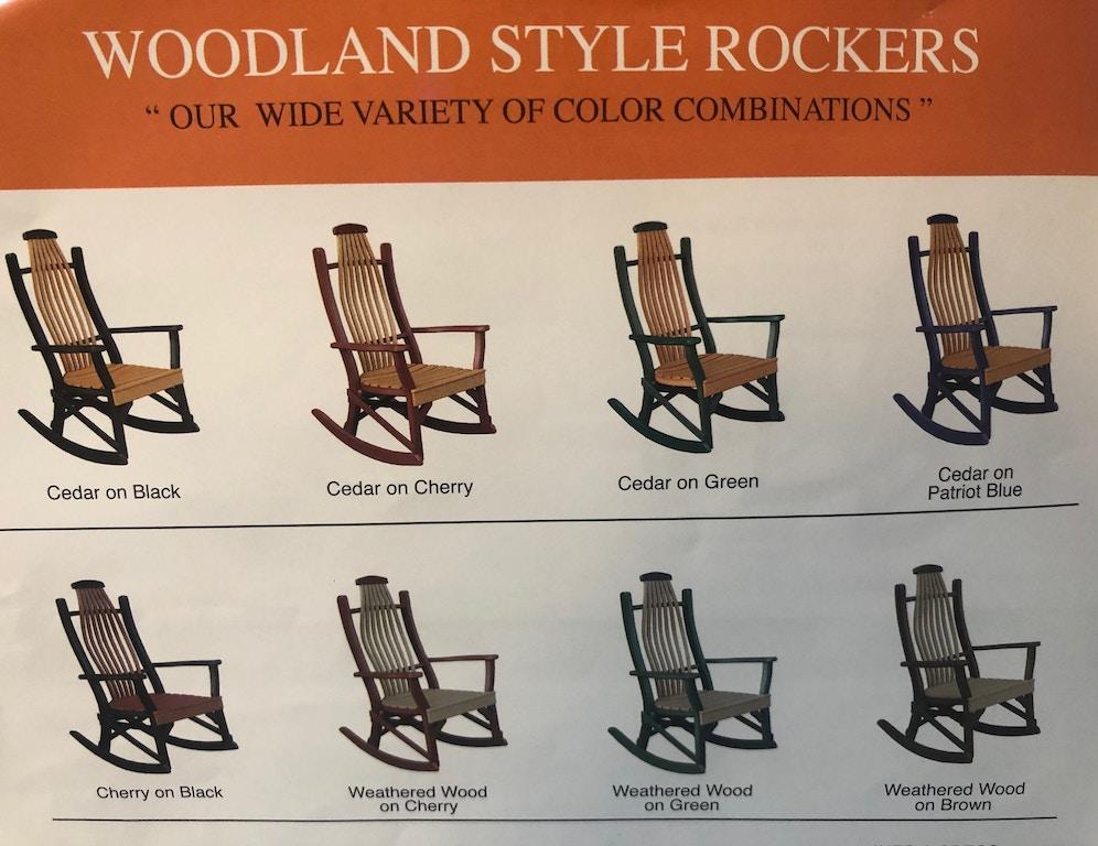 Hostetler Outdoor Patio Poly Outdoor Rocker Cedar On Cherry 26041 Love S Bedding And Furniture