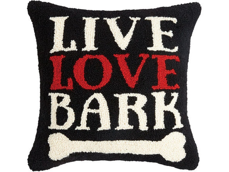 great gift ideas accessories live love bark 16 x 16 hooked pillows
