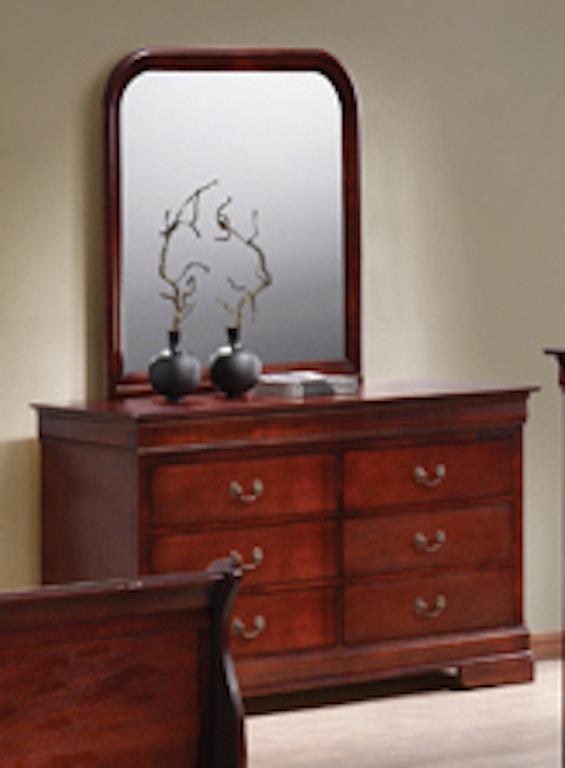 Lp 6 Drawer Dresser Cherry