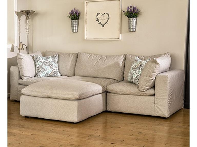 Four Seasons Living Room Modular Slipcover Sectional Ottoman Sold