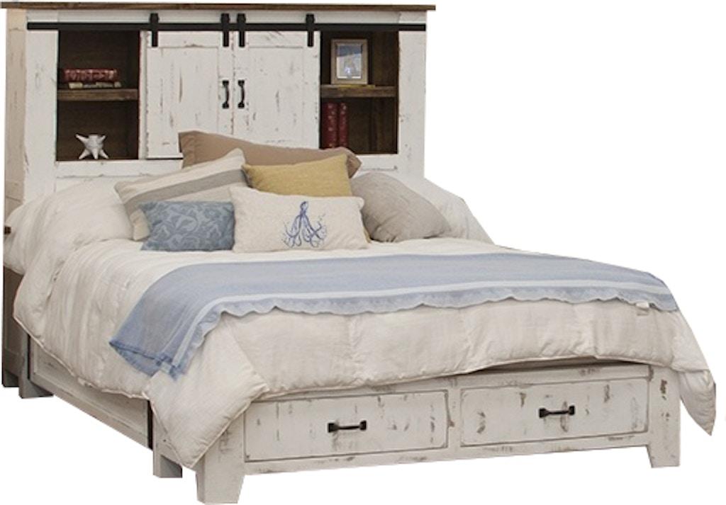 International Furniture Direct Pueblo Storage Bed-Sliding ...