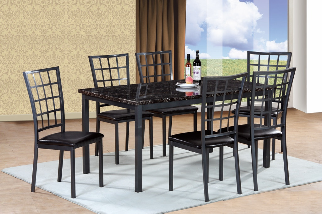 Pacific Imports Dining Room Table W 6 Chairs 7 Pc Set 1124st The Furniture Mall Duluth