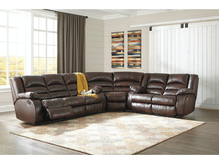 Signature Design by Ashley Living Room 3 Piece Sectional Sofa ...