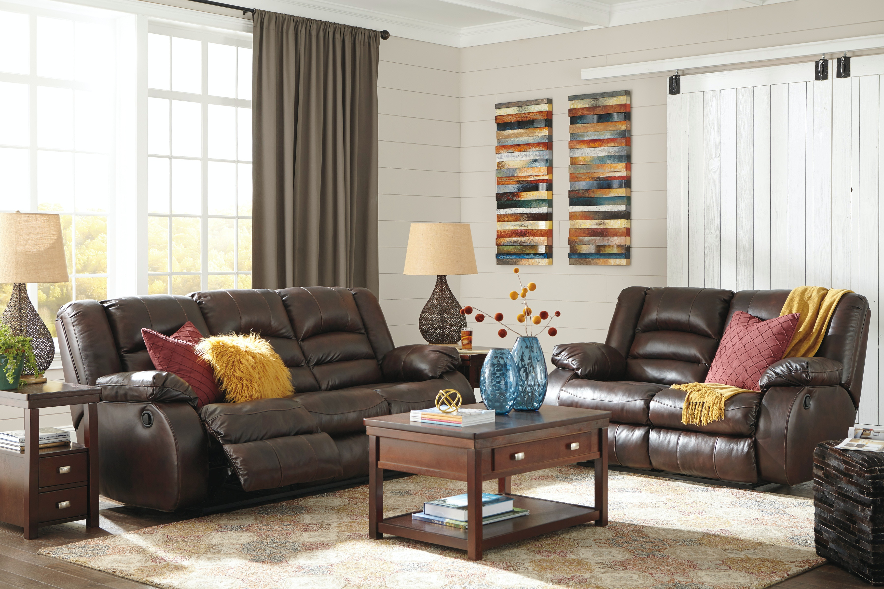 Signature Design By Ashley Reclining Sofa And Loveseat 17001ST