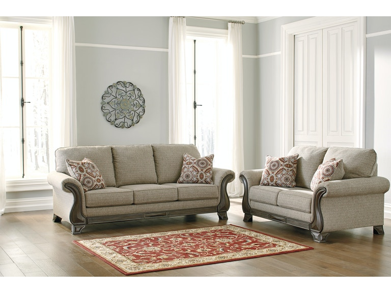 Signature Design By Ashley Living Room Sofa And Loveseat 18003st