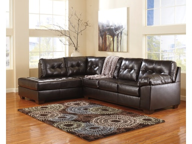 Signature Design by Ashley Alliston Chocolate 2pc sectional sofa. 2010116SEC