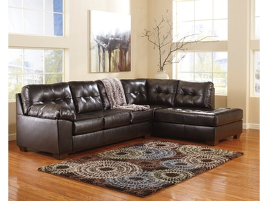 Signature Design by Ashley Alliston Chocolate 2pc sectional sofa 2010117SEC