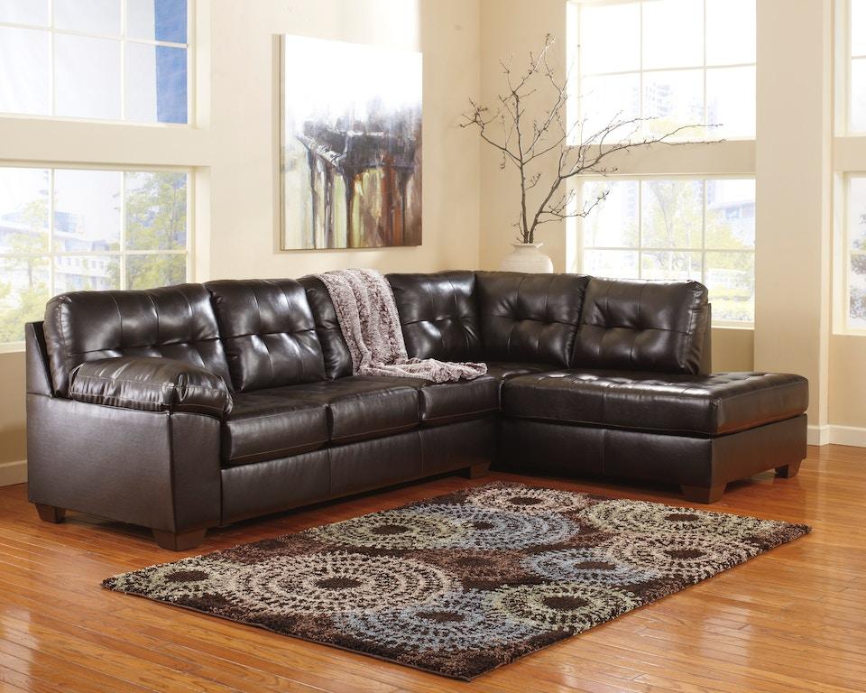 Alliston Chocolate 2pc sectional sofa