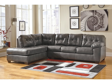 Signature Design by Ashley Alliston Grey 2pc Sectional Sofa 2010216SEC
