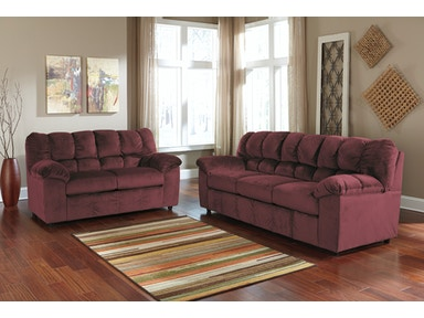 Signature Design by Ashley Julson Burgundy 2pc Living Room Set 26602ST