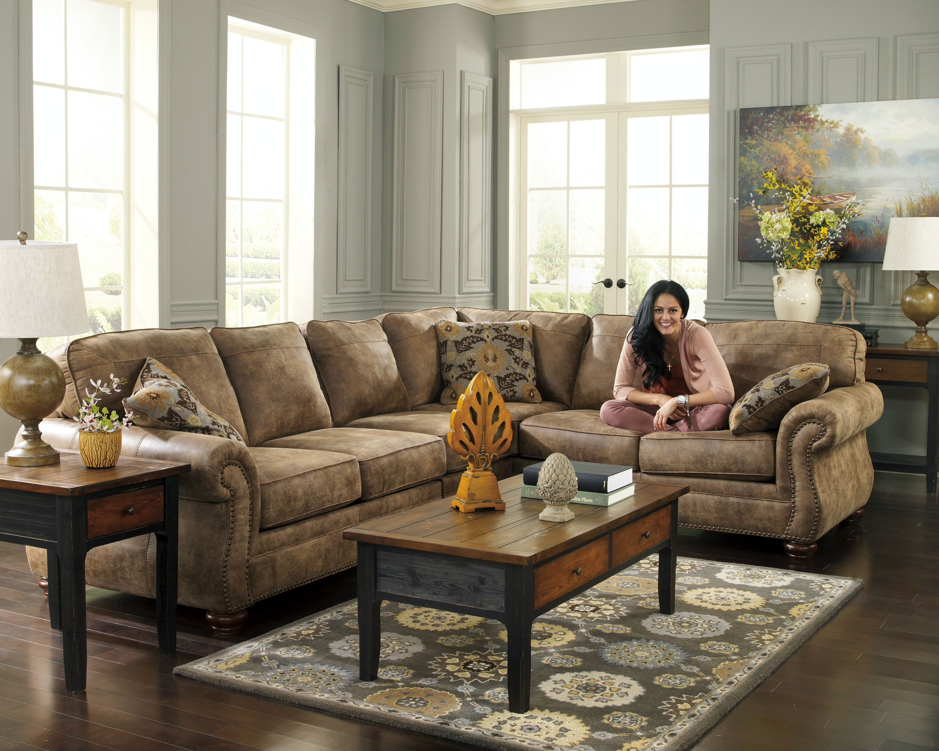 Signature Design By Ashley Larkinhurst Earth 3pc Sectional Sofa 3190167SEC