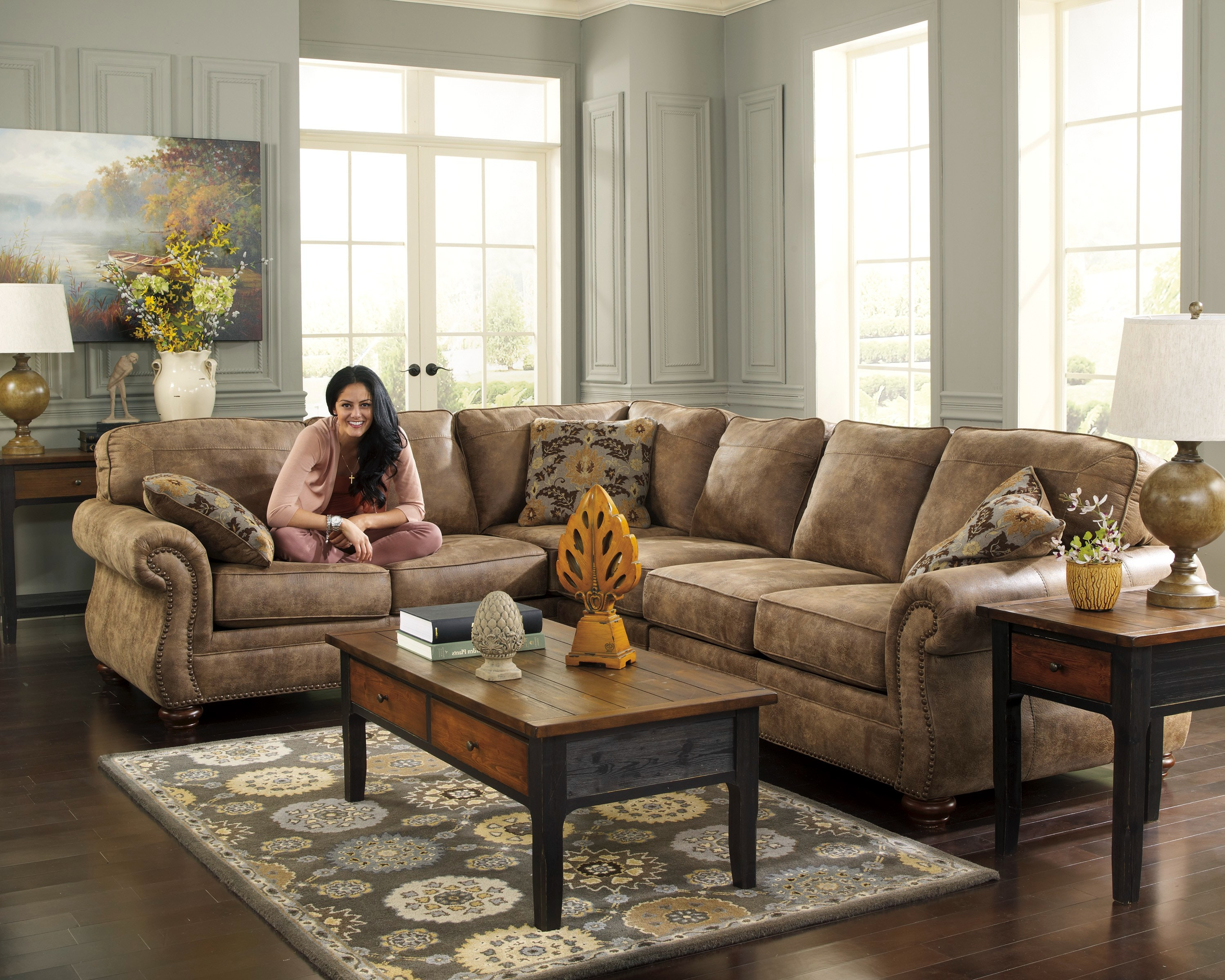 Signature Design By Ashley Larkinhurst Earth 3pc Sectional Sofa 3190166SEC