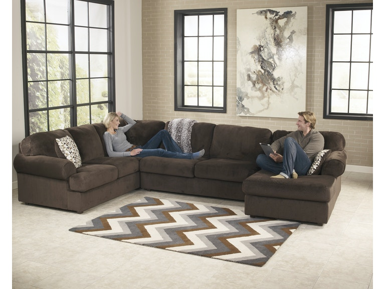 Signature Design By Ashley Jessa Place Chocolate 3pc Sectional Sofa 3980466sec