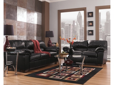 Signature Design by Ashley Commando Black 2pc Living Room Set 64500ST