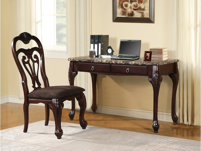 Pacific Imports Home Office Writing Desk W Chair 7239 At The Furniture Mall