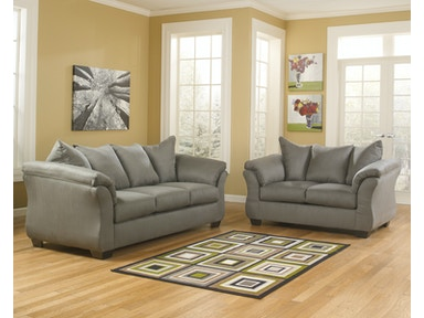 Signature Design by Ashley Darcy Cobblestone 2pc Living Room Set 75005ST