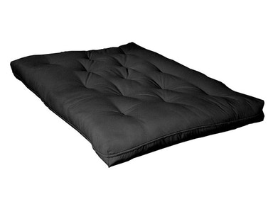 "Acme Furniture Black 8"" thick futon pad. Approximately full size. 8PAD"