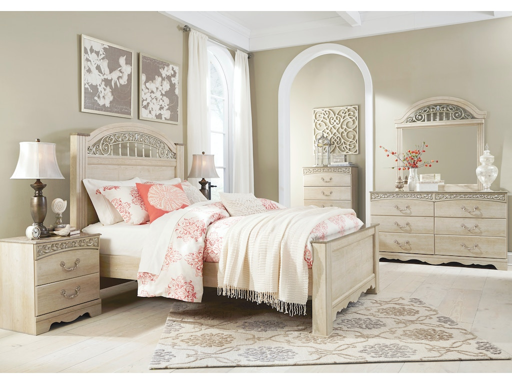 Signature Design By Ashley Catalina Cream 5pc King Bedroom
