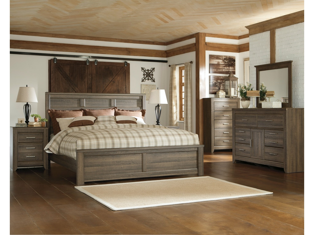Signature design by ashley juararo 5pc king bedroom set for Signature bedroom furniture