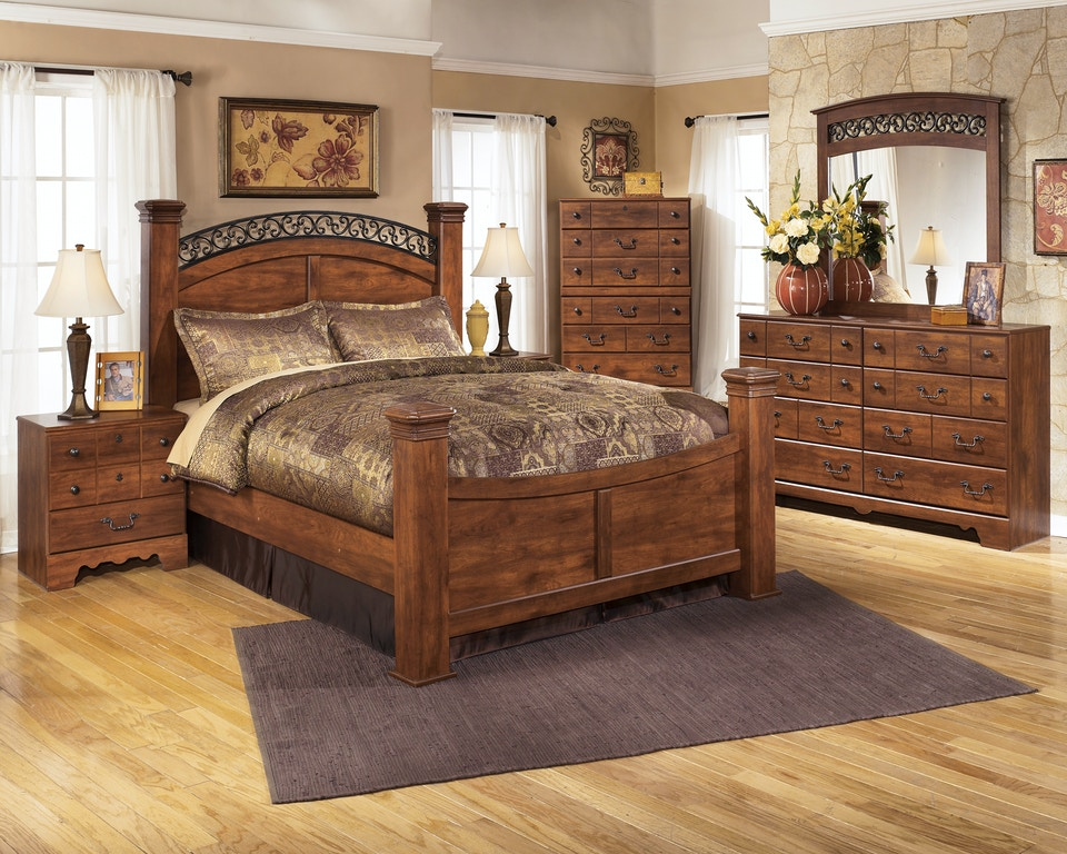 Signature Design By Ashley Timberline 5pc Queen Bedroom Set Includes Queen Post Bed Dresser