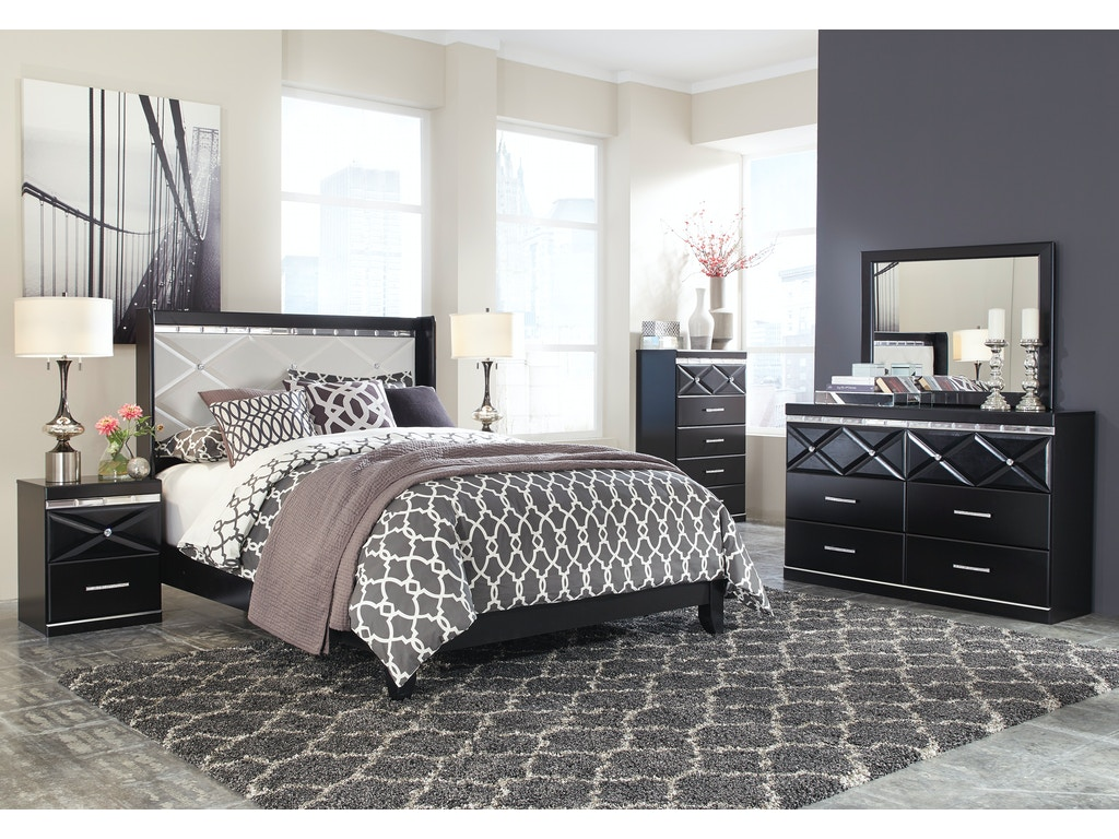 Signature Design By Ashley Fancee 5pc Queen Bedroom Set B348qst The Furniture Mall Duluth