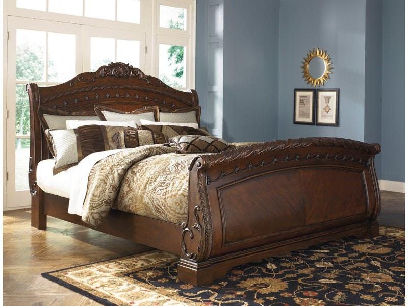 Beau Millennium North Shore 5pc Queen Sleigh Bedroom Set B553QSST, B553QSB