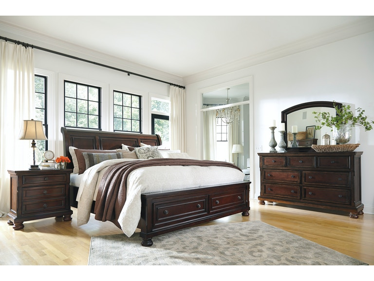 Signature Design By Ashley Bedroom D M Queen Sleigh Bed W Storage C Ns B697 31 36 74 77 98 46 92