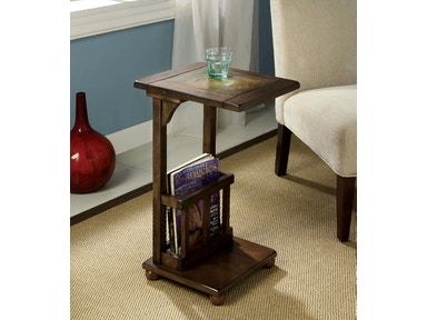 Furniture of America Slate-Insert Side Table CM-AC093