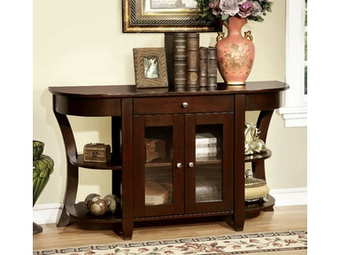 Furniture of America Console Table, Dark Cherry CM-AC141