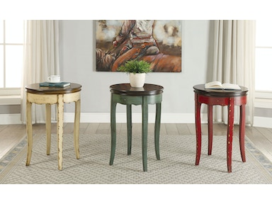 Furniture of America Round Side Table, Green CM-AC150GR
