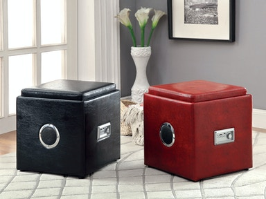 Furniture of America Ottoman, Red CM-AC210RD