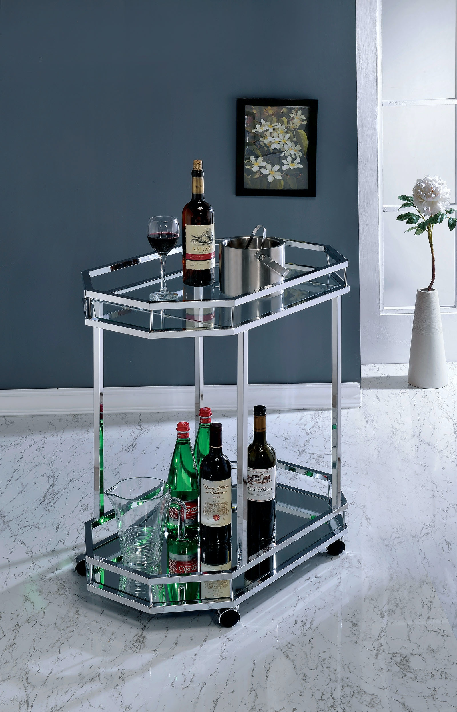 Captivating Furniture Of America Dining Room Serving Cart CM AC220 At The Furniture Mall