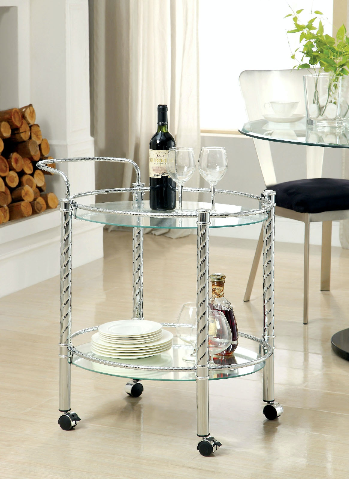Furniture Of America Dining Room Serving Cart CM AC226 At The Furniture Mall