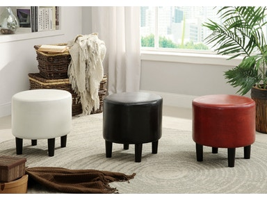 Furniture of America Ottoman, Red CM-AC231RD