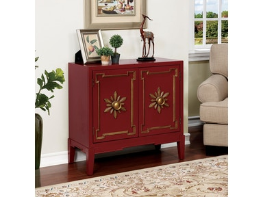 Furniture of America Hallway Chest, Red CM-AC304RD