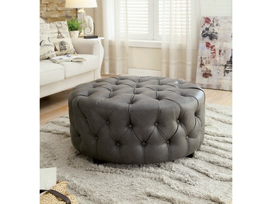Furniture of America Ottoman, Gray CM-AC6289GY