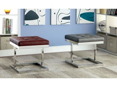 Furniture of America Bench, Gray CM-AC6901GY