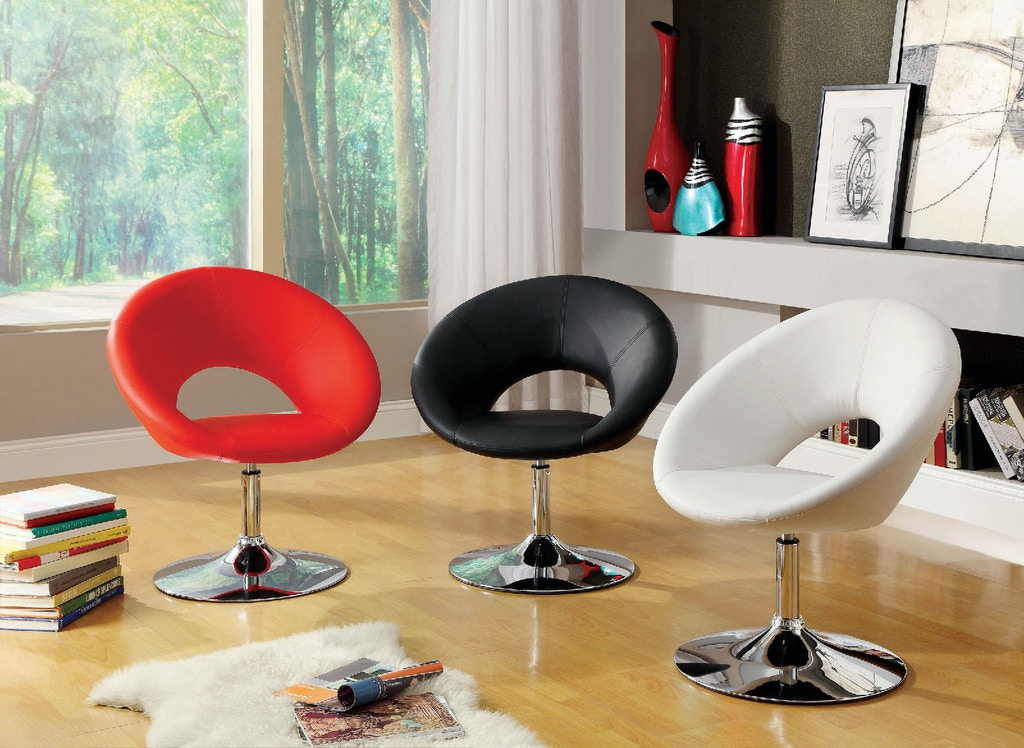 Swivel Accent Chair, Red