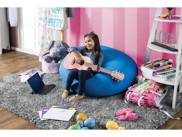 Furniture Of America Bean Bag Chair Blue Cm Ac881bl