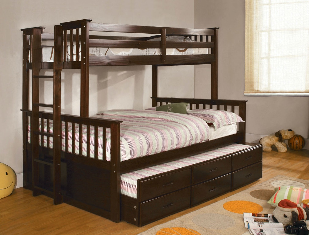 Fine Twin Full Bunk Bed Dark Walnut Download Free Architecture Designs Jebrpmadebymaigaardcom