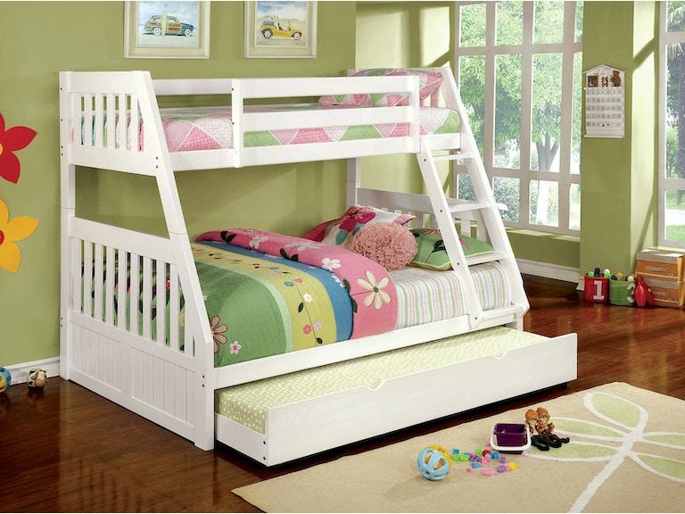 Furniture Of America Twin Full Bunk Bed Bottom Headboard Footboard Guard Rail Cm