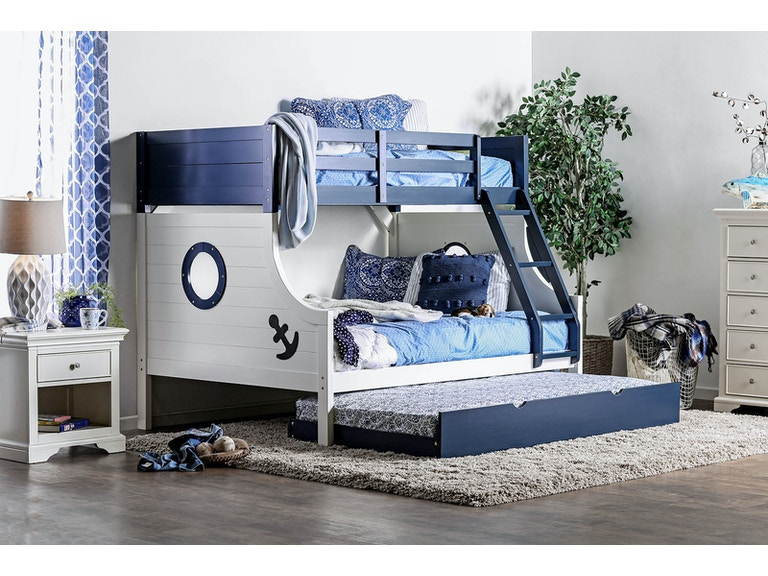 Furniture Of America Bedroom Twin Full Bunk Bed Headboard Footboard Cm Bk629 2 At The